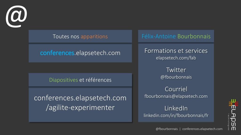 @fbourbonnais | conferences.elapsetech.com Form...