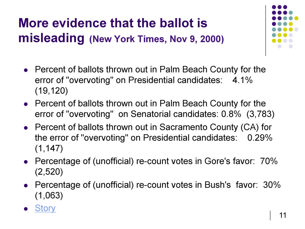 11 More evidence that the ballot is misleading ...
