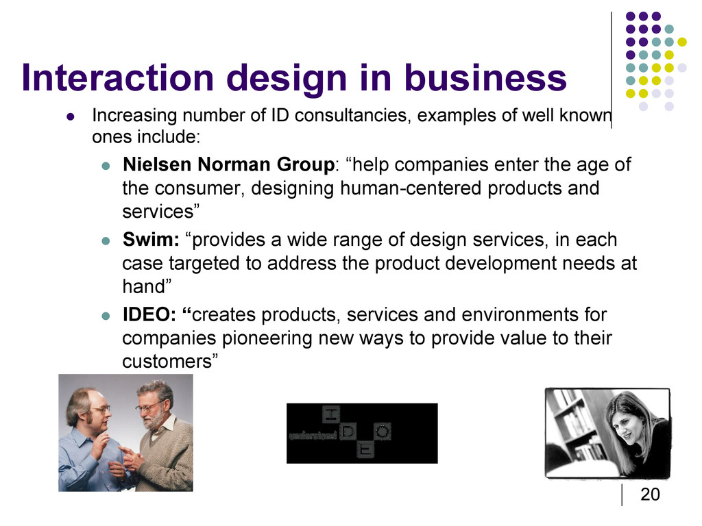 20 Interaction design in business   Increasing...