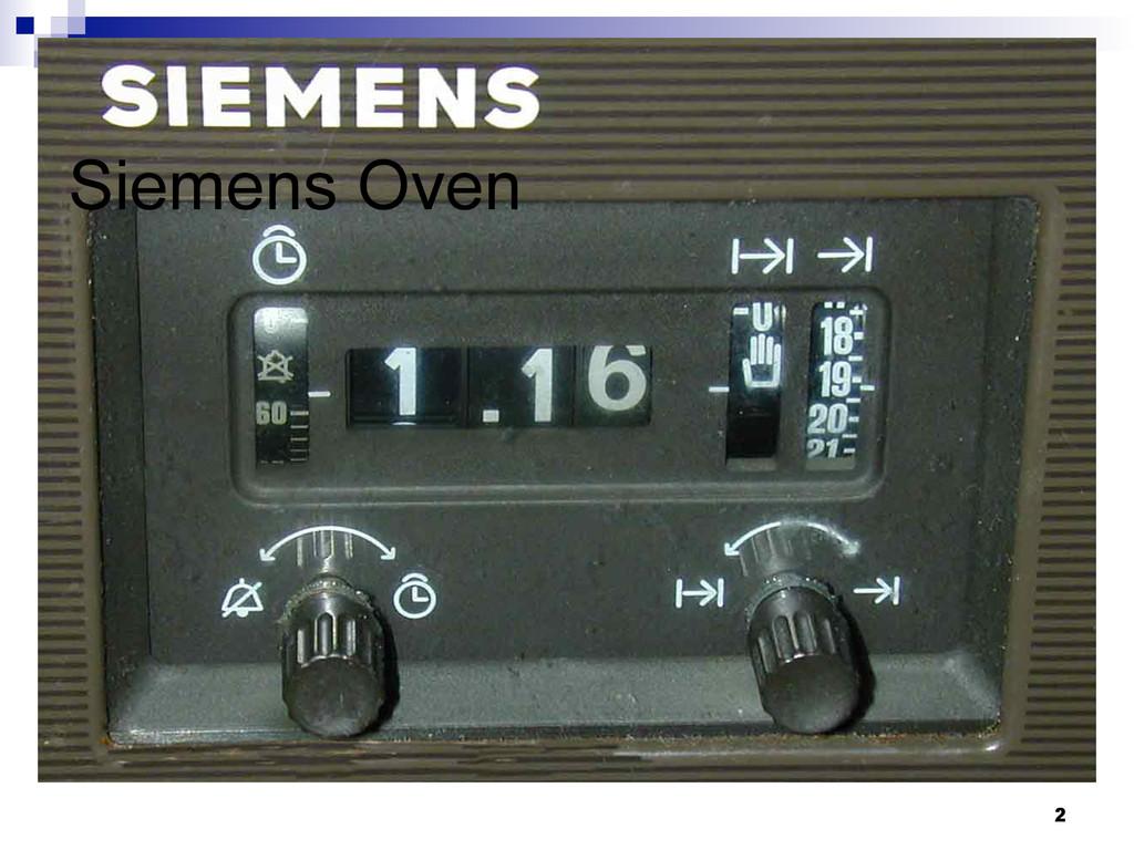 2 Siemens Oven
