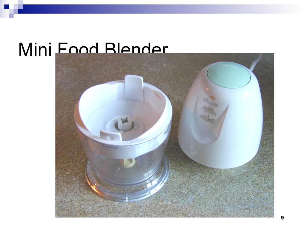 9 Mini Food Blender