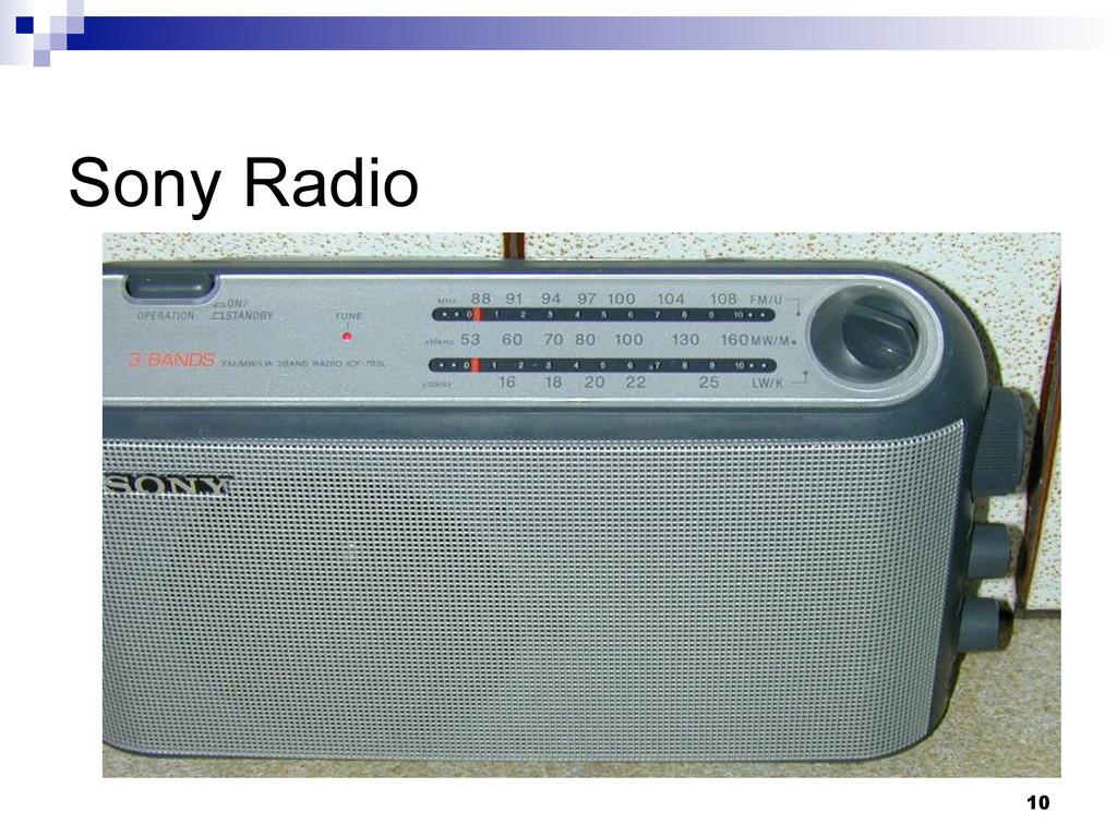 10 Sony Radio