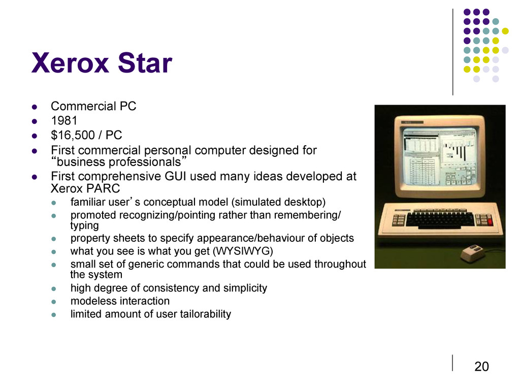 20 Xerox Star  Commercial PC  1981  $16,5...