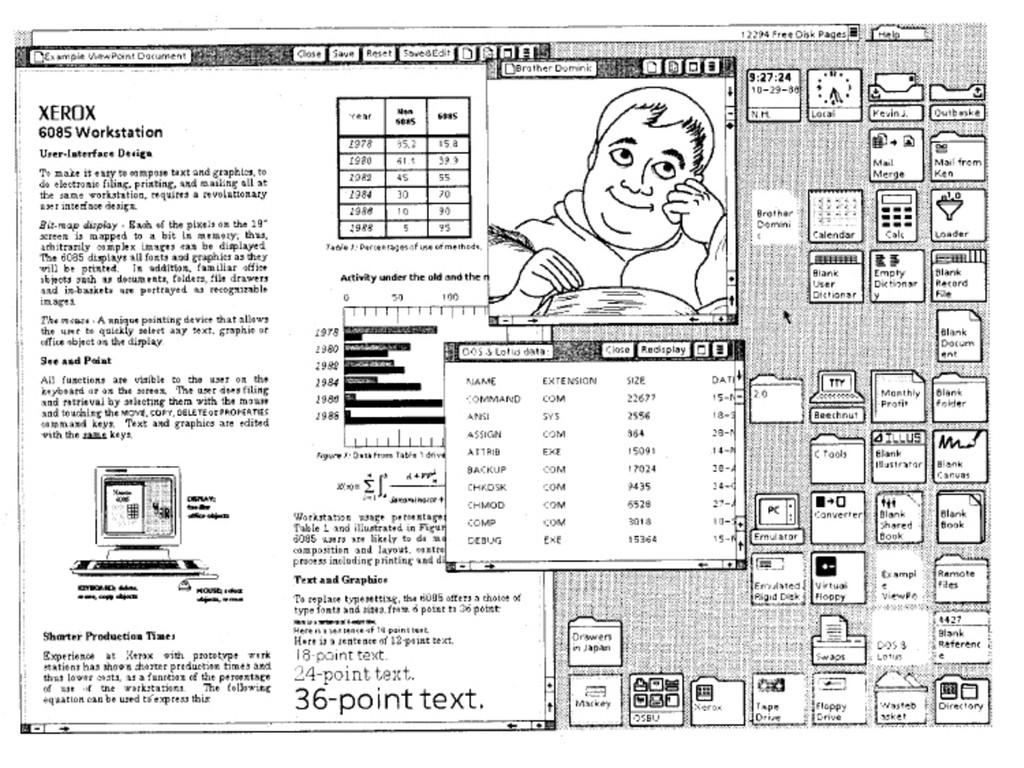 21 Screen shot of Xerox Star