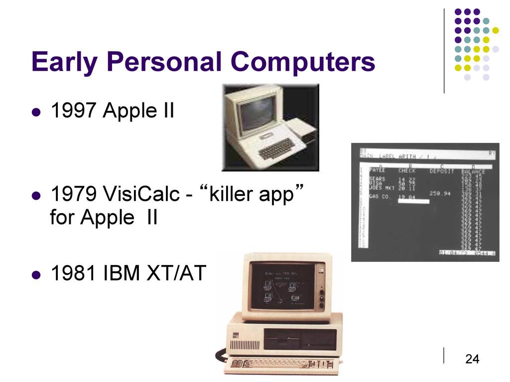 24 Early Personal Computers  1997 Apple II ...