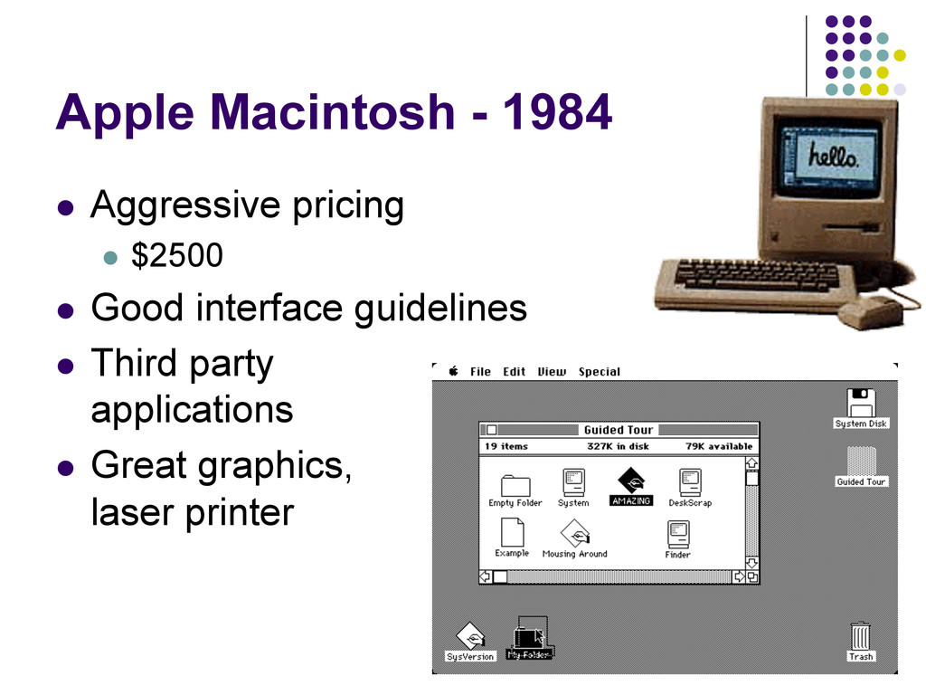25 Apple Macintosh - 1984  Aggressive pricing...