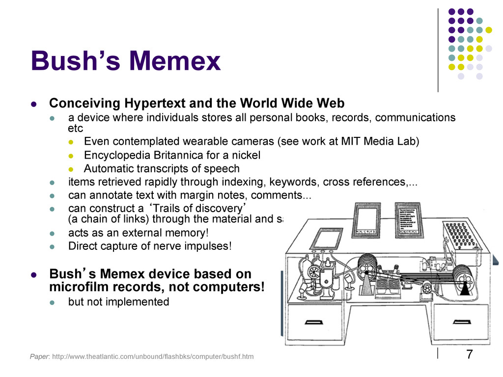 7 Bush's Memex  Conceiving Hypertext and the ...