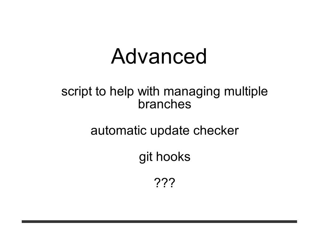 Advanced script to help with managing multiple ...