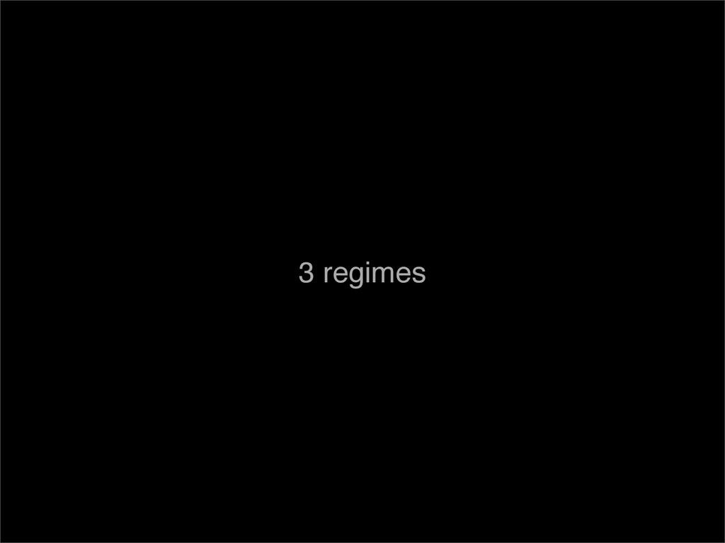 3 regimes