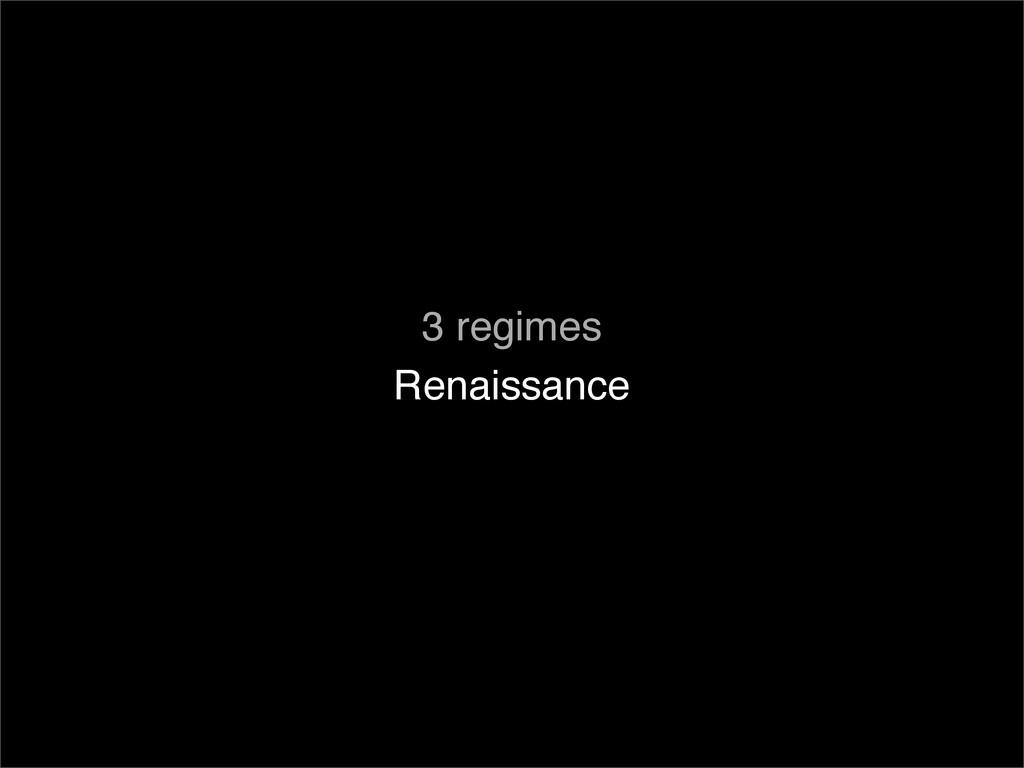 Renaissance 3 regimes