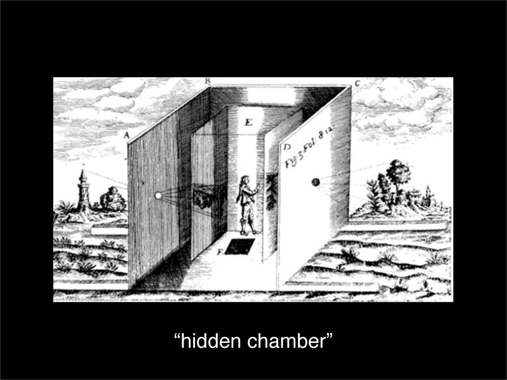 """""""hidden chamber"""""""