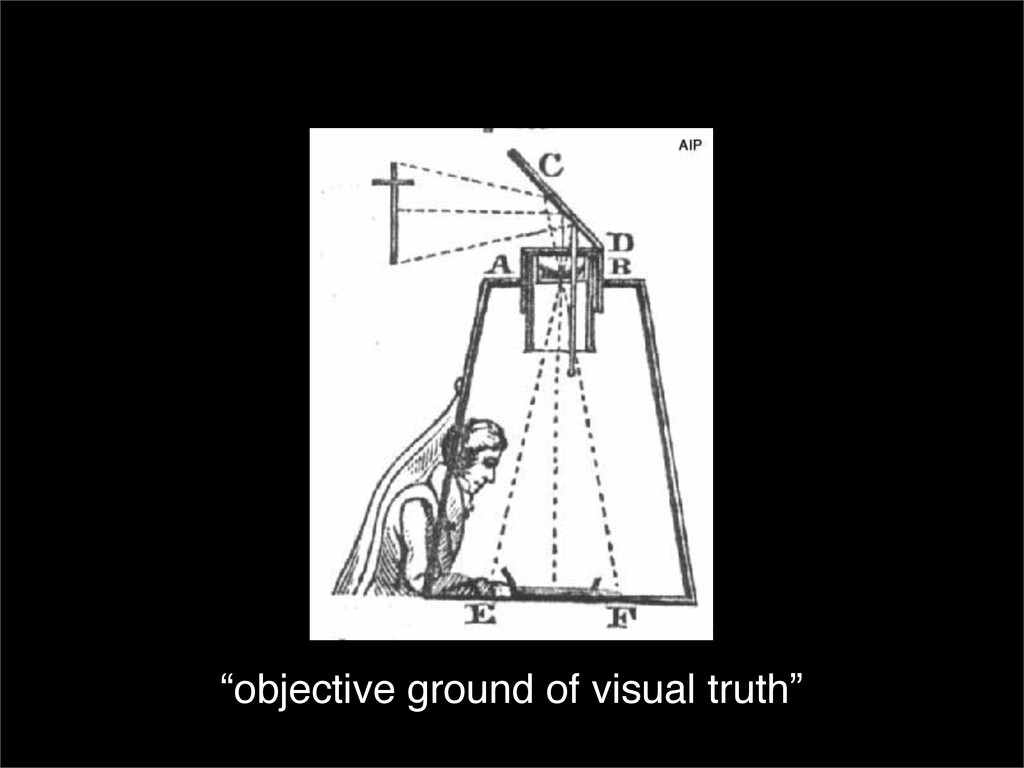 """""""objective ground of visual truth"""""""