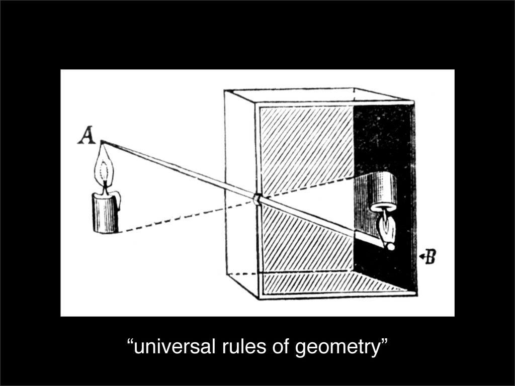 """""""universal rules of geometry"""""""