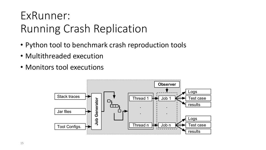 ExRunner: Running Crash Replication • Python to...