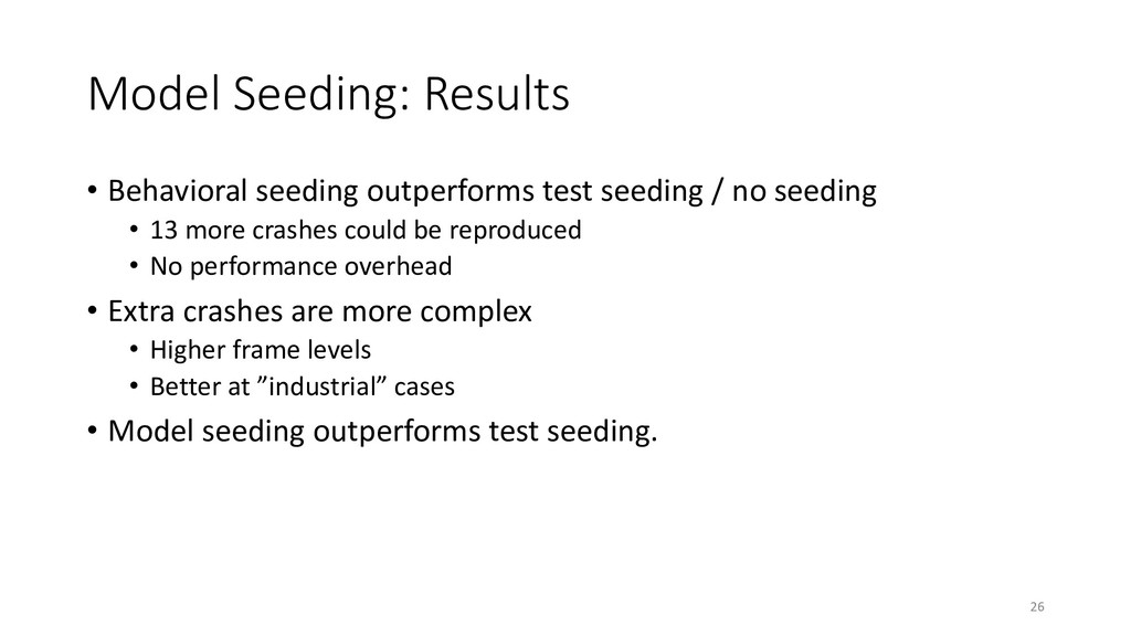 Model Seeding: Results • Behavioral seeding out...