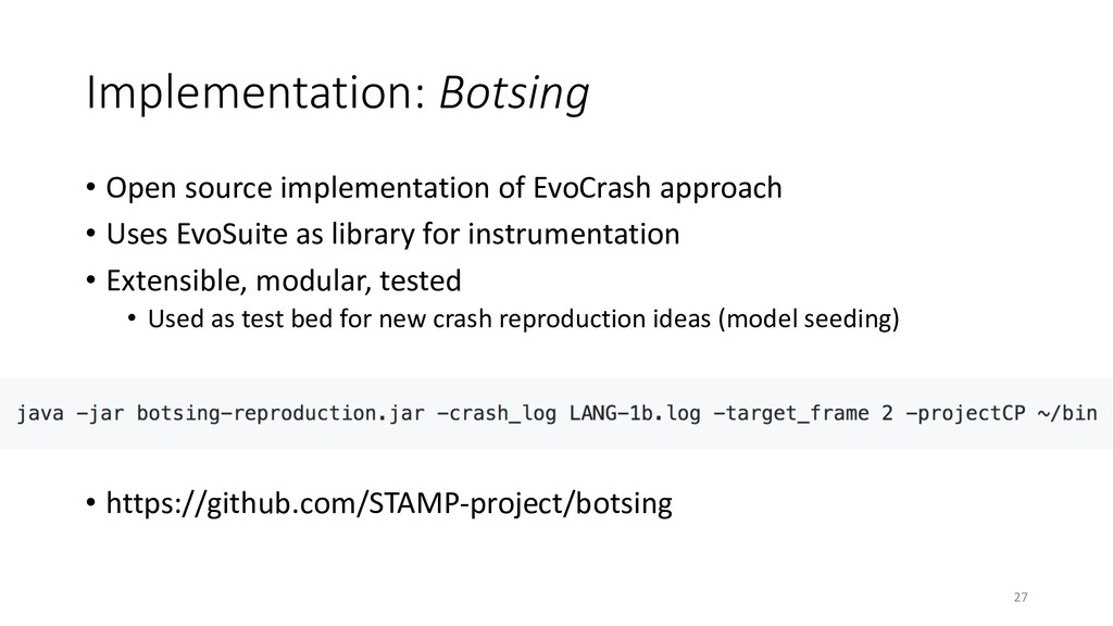 Implementation: Botsing • Open source implement...