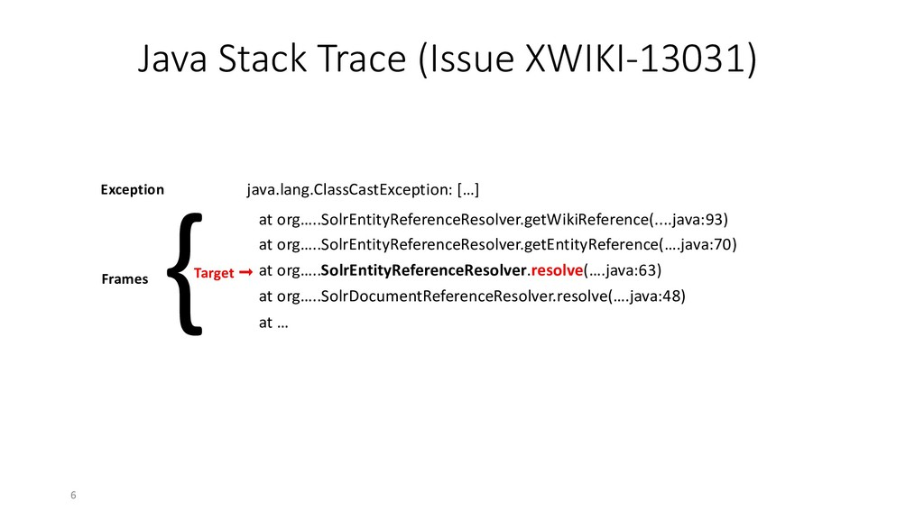 Java Stack Trace (Issue XWIKI-13031) java.lang....