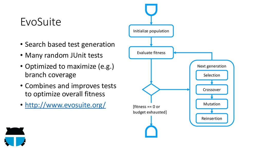 EvoSuite • Search based test generation • Many ...