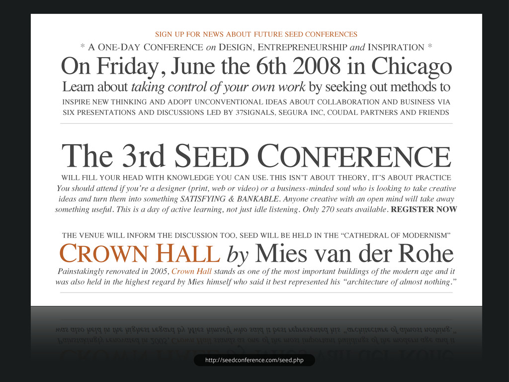 SIGN UP FOR NEWS ABOUT FUTURE SEED CONFERENCES ...