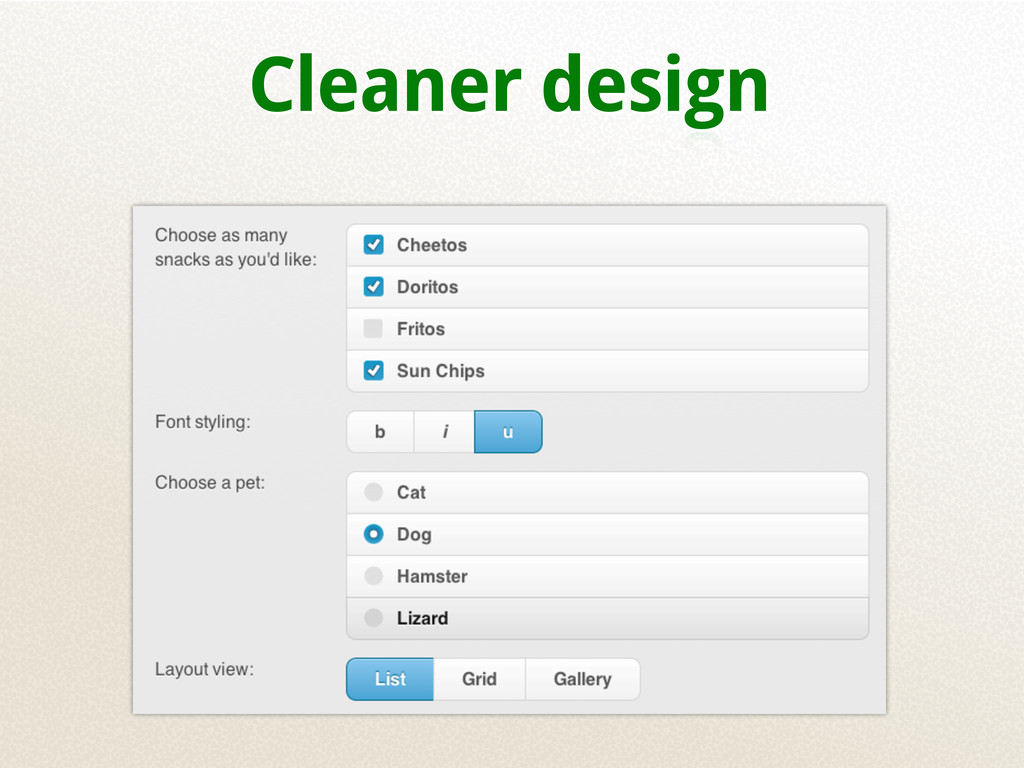 Cleaner design