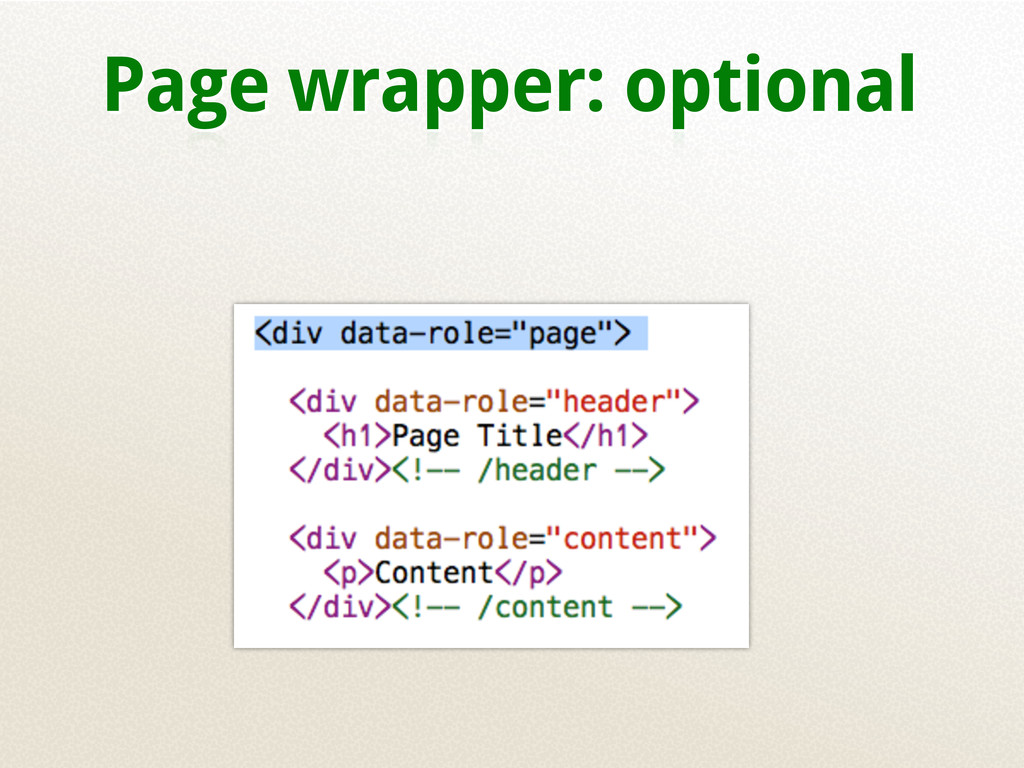 Page wrapper: optional