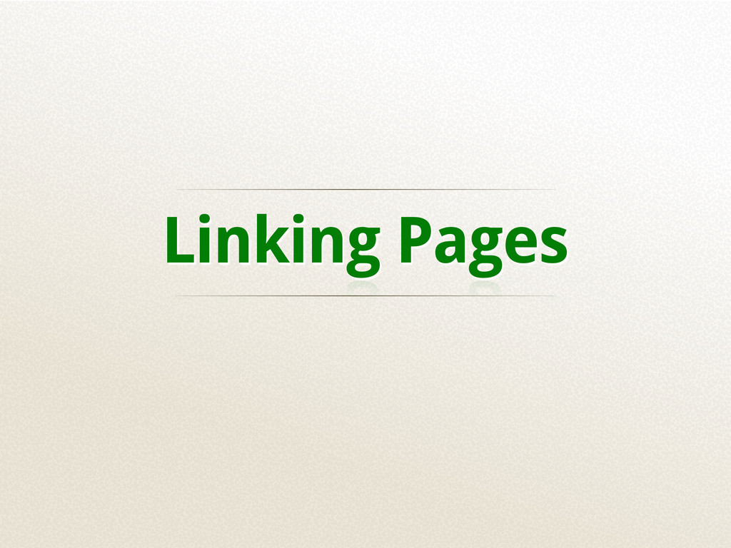 Linking Pages