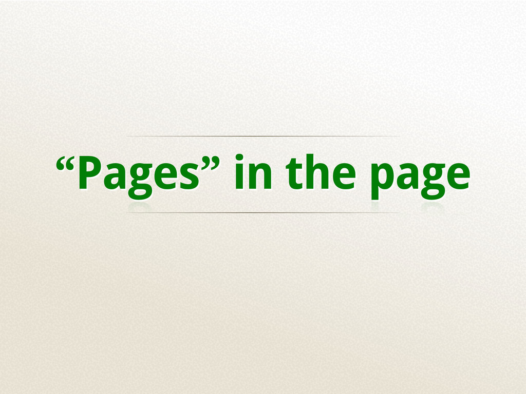 """""""Pages"""" in the page"""