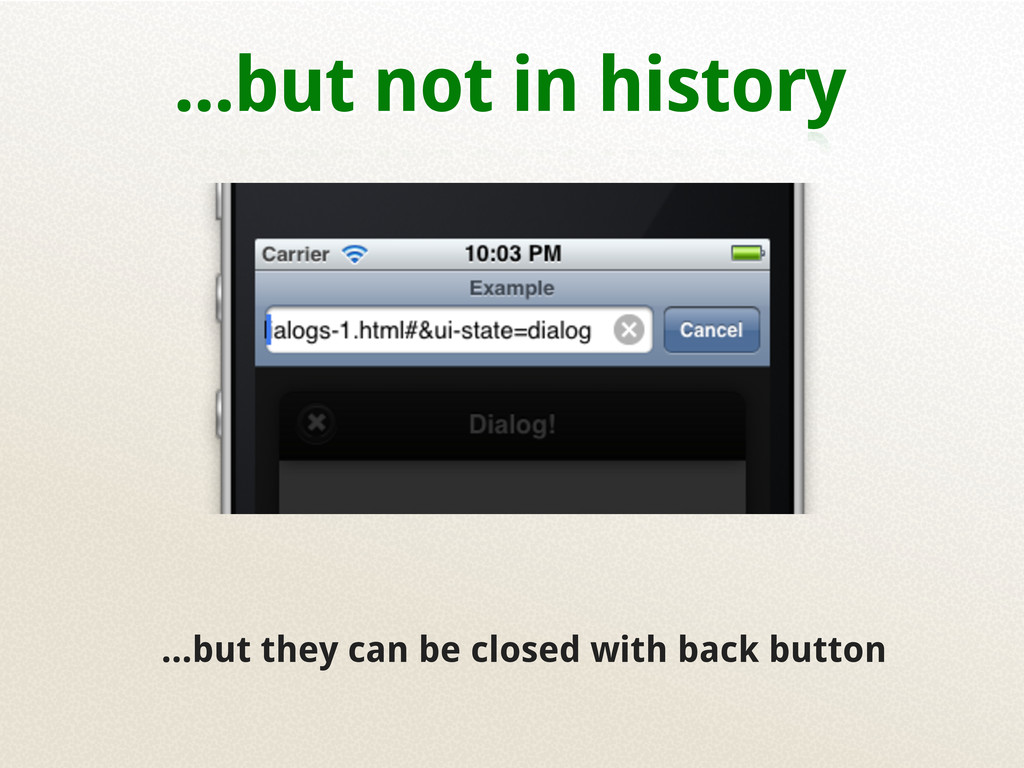 ...but not in history ...but they can be closed...