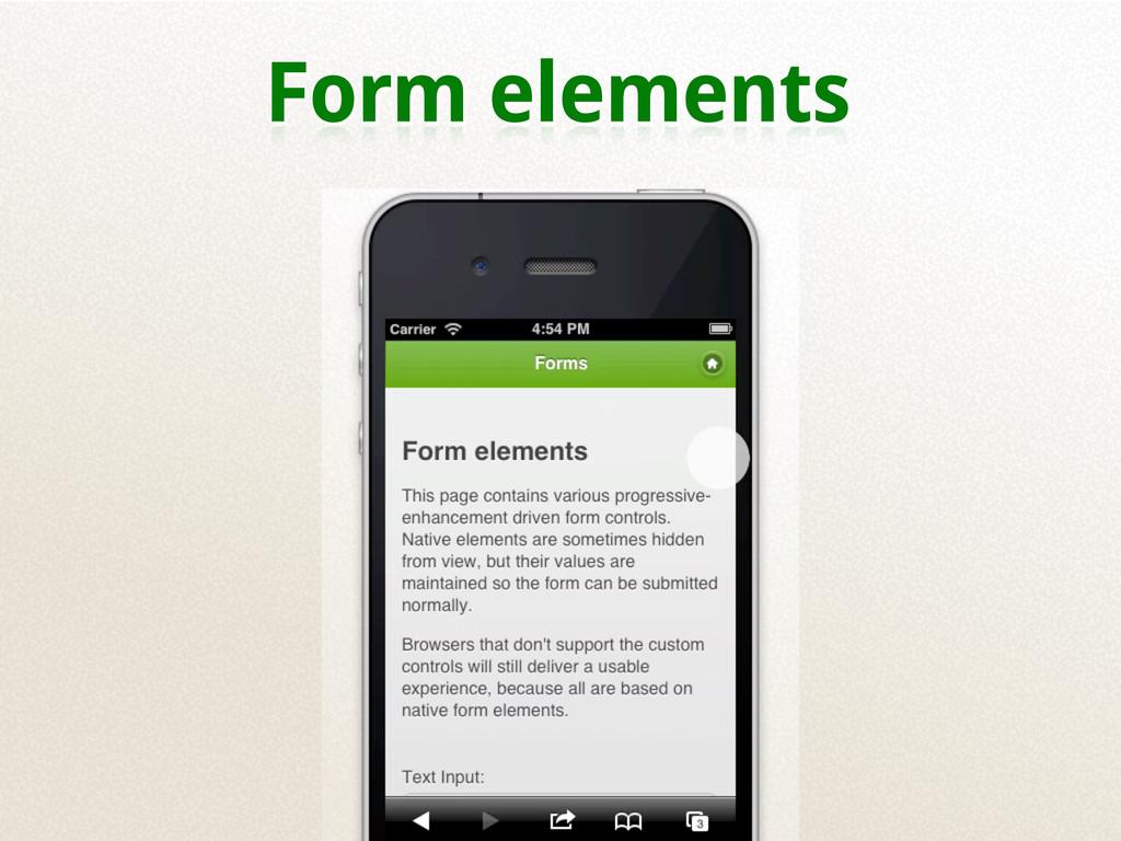 Form elements
