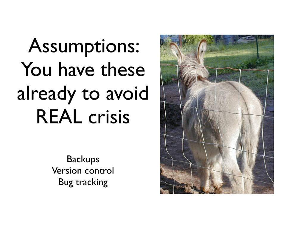Assumptions: You have these already to avoid RE...