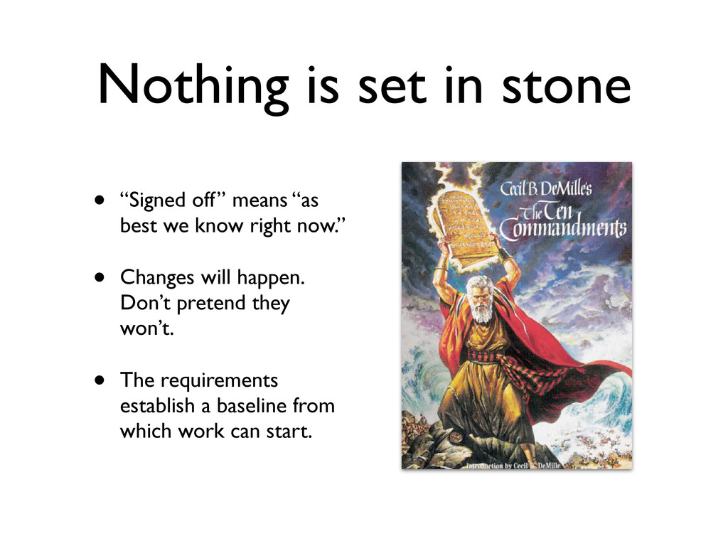 """Nothing is set in stone • """"Signed off"""" means """"a..."""