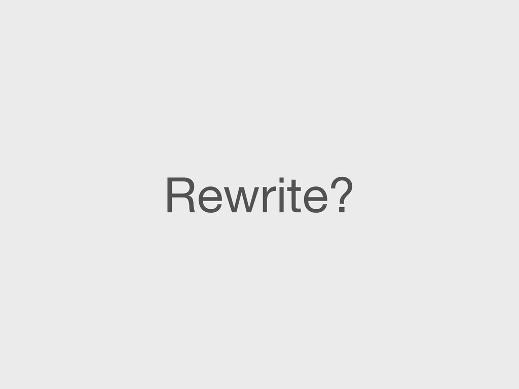 Rewrite?