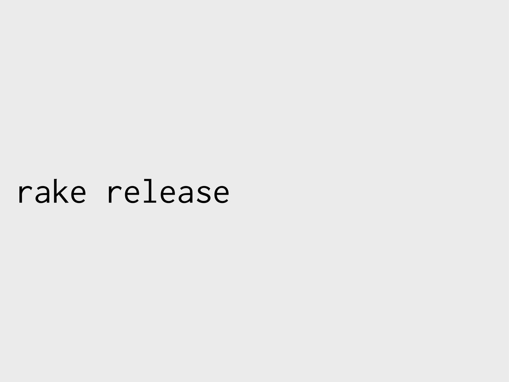rake release