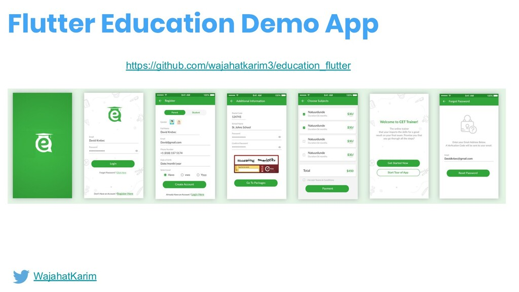 Flutter Education Demo App WajahatKarim https:/...