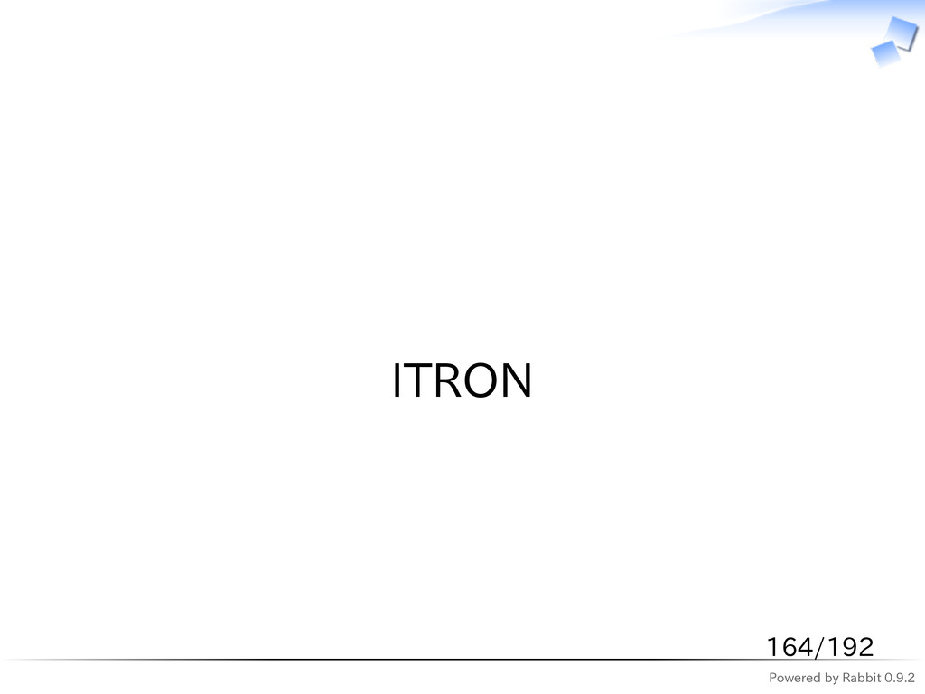 Powered by Rabbit 0.9.2   ITRON 164/192