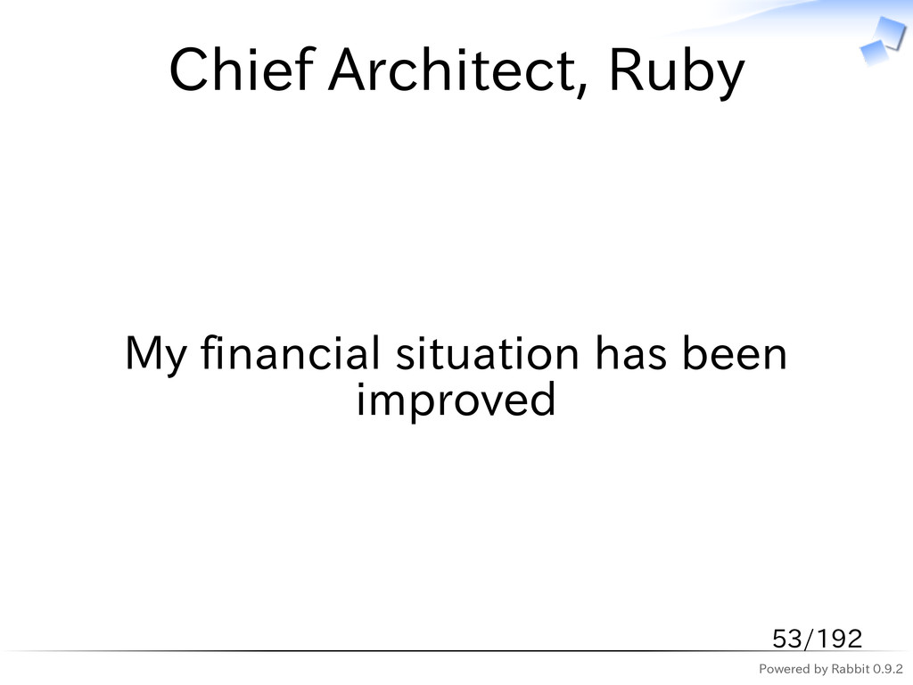Powered by Rabbit 0.9.2 Chief Architect, Ruby M...