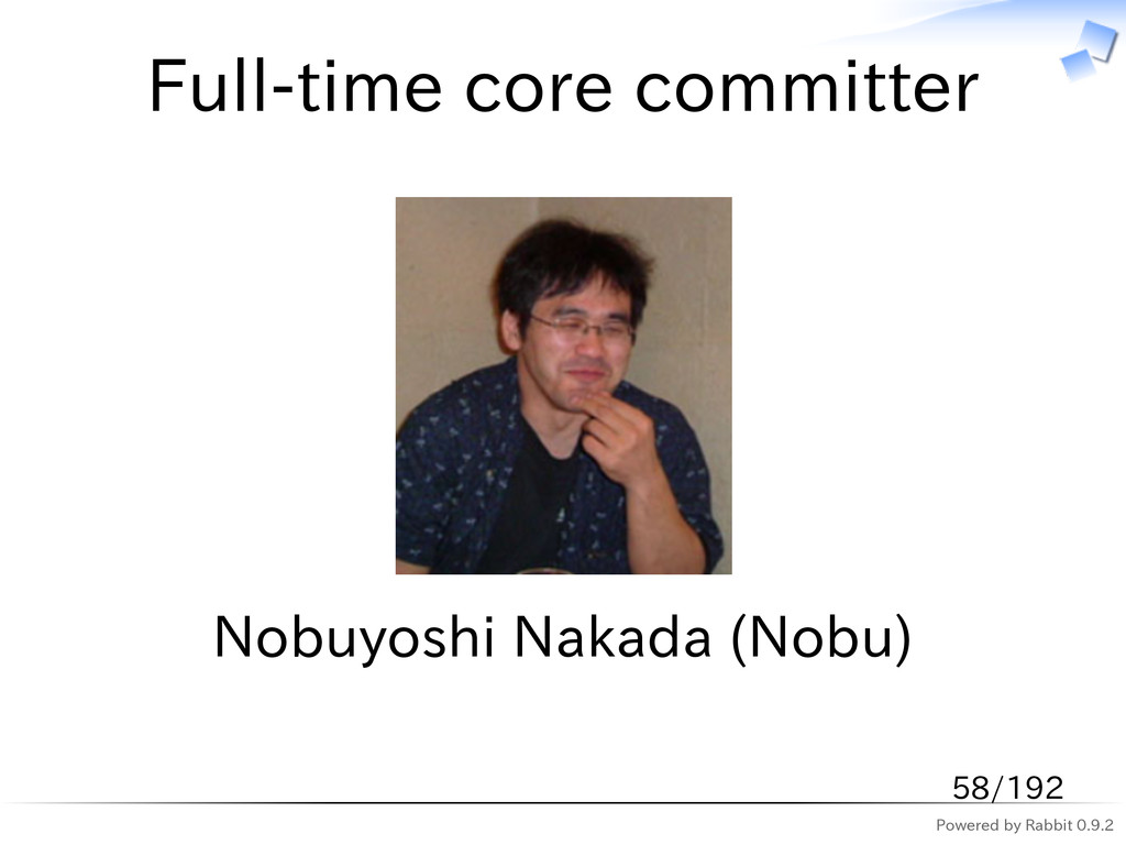 Powered by Rabbit 0.9.2 Full-time core committe...