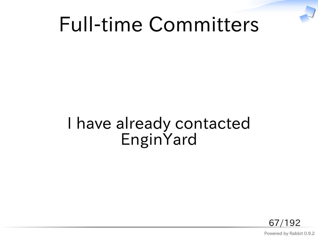 Powered by Rabbit 0.9.2 Full-time Committers I ...