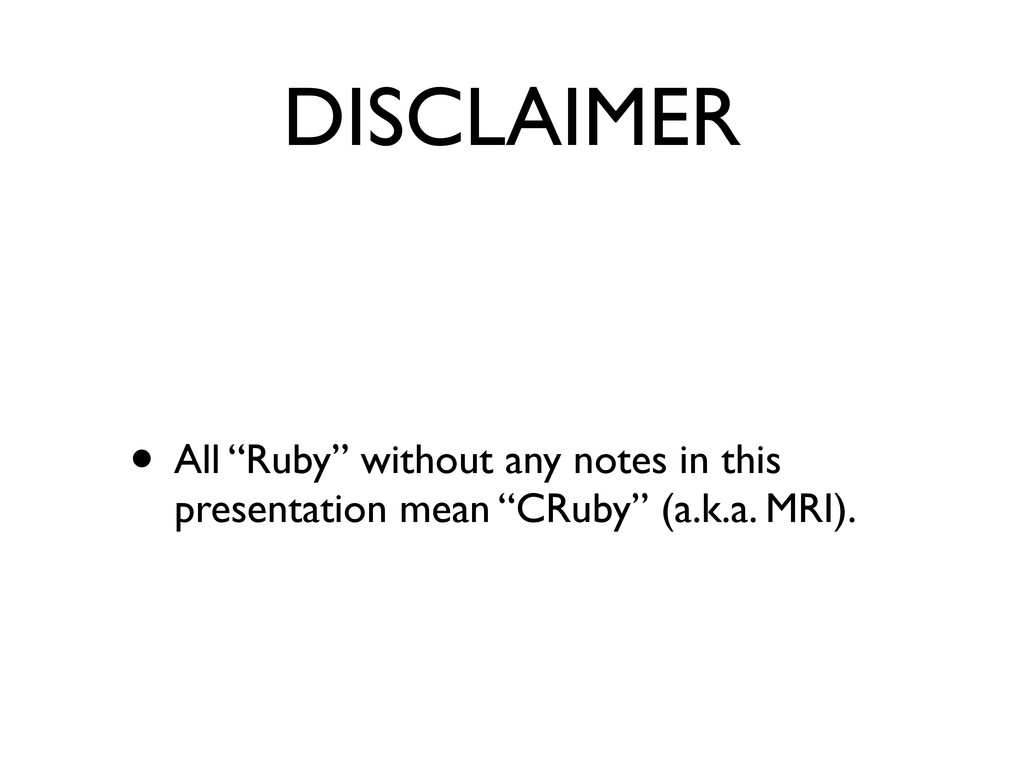 "DISCLAIMER • All ""Ruby"" without any notes in th..."