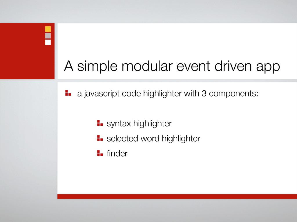 A simple modular event driven app a javascript ...