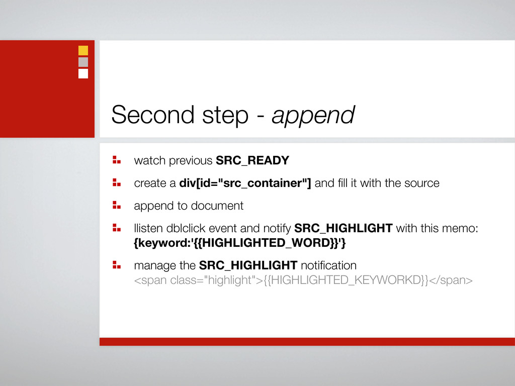 Second step - append watch previous SRC_READY c...