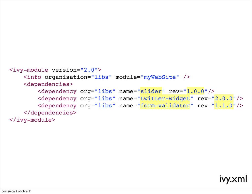 """<ivy-module version=""""2.0""""> <info organisation=""""..."""