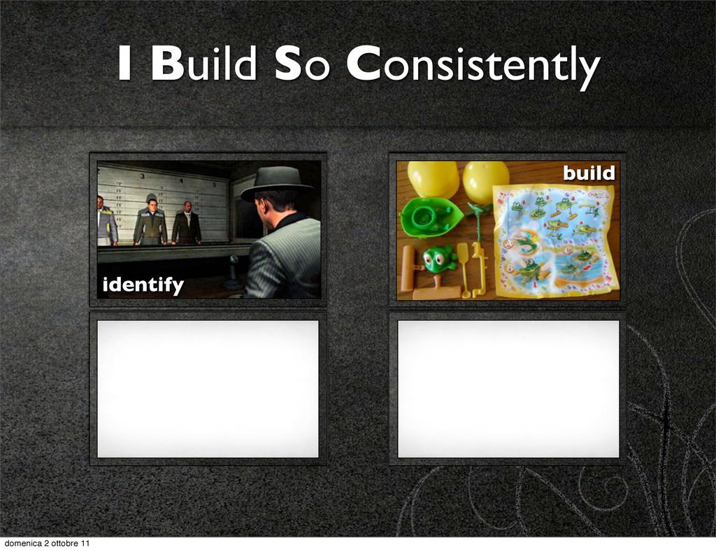 I Build So Consistently identify build domenica...