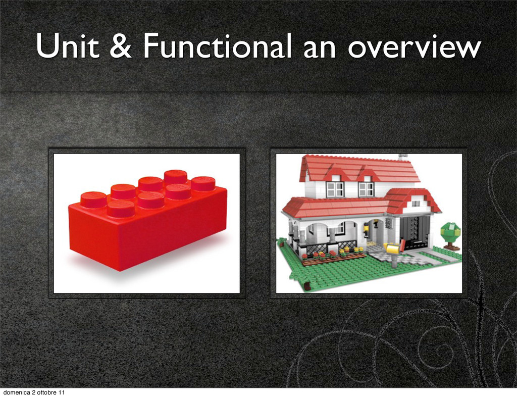 Unit & Functional an overview domenica 2 ottobr...