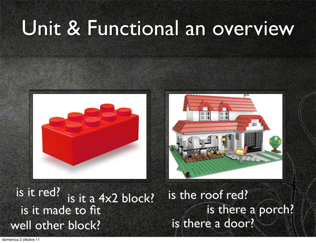Unit & Functional an overview is it red? is it ...