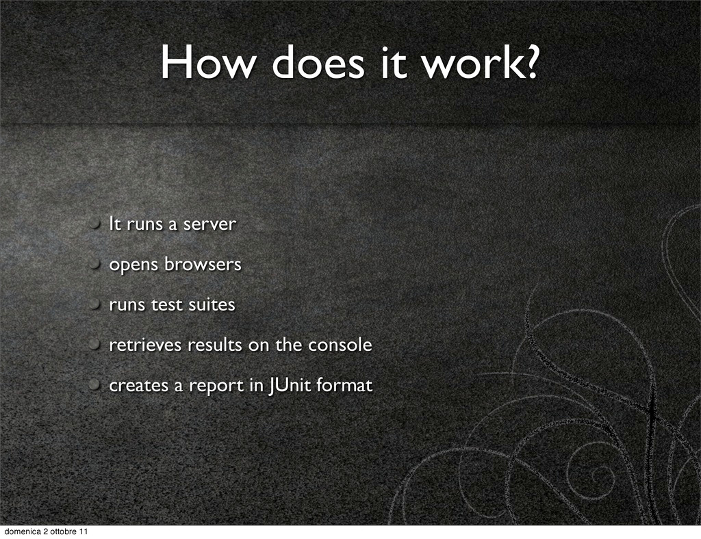 How does it work? It runs a server opens browse...