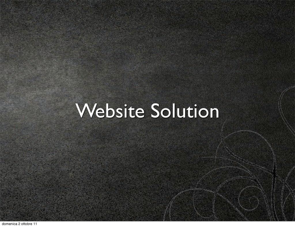 Website Solution domenica 2 ottobre 11