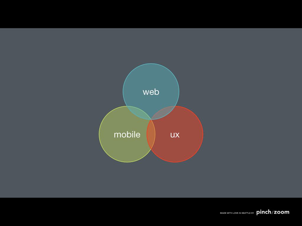 mobile ux web