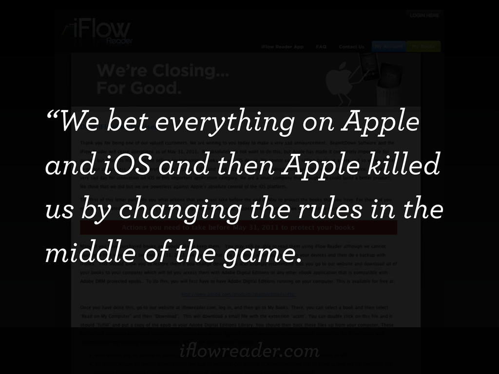 """iflowreader.com """"We bet everything on Apple and ..."""