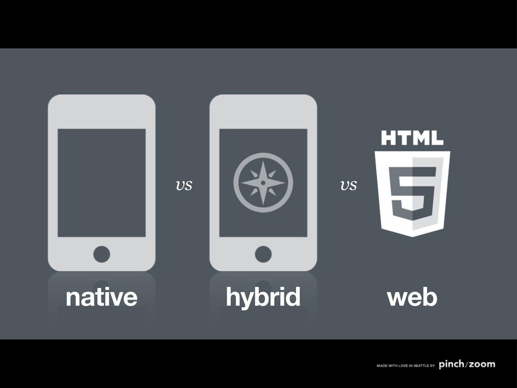 native hybrid web vs vs